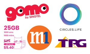 Battle of the Sim-only Plans Singtel starhub M1 circles life tpg 2