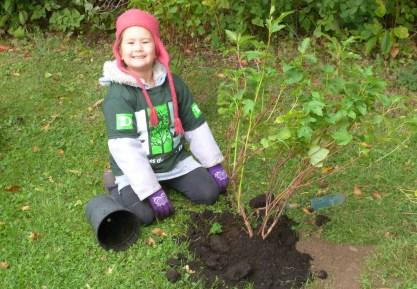 Sarah's very proud of her tree.