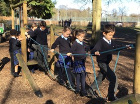 22.02.19. An outdoor pursuits session in LVS Ascot's grounds during Learning Power Week