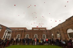 Picture by Chris Bull 27/4/19 Family and friends of Yousef Makki gather at Manchester Grammar School for a memorial service. www.chrisbullphotographer.com Further info from Stefan Jarmolowicz Director of Communications The Manchester Grammar School 0161 224 7201 ext 255 s.jarmolowicz@mgs.org