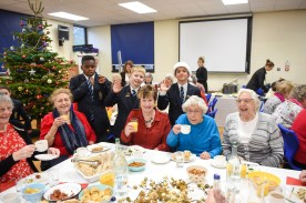 LVS Ascot Infant & Junior School Nativity and Lunch for local elderly club Photograph taken by Simon Dack / Vervate