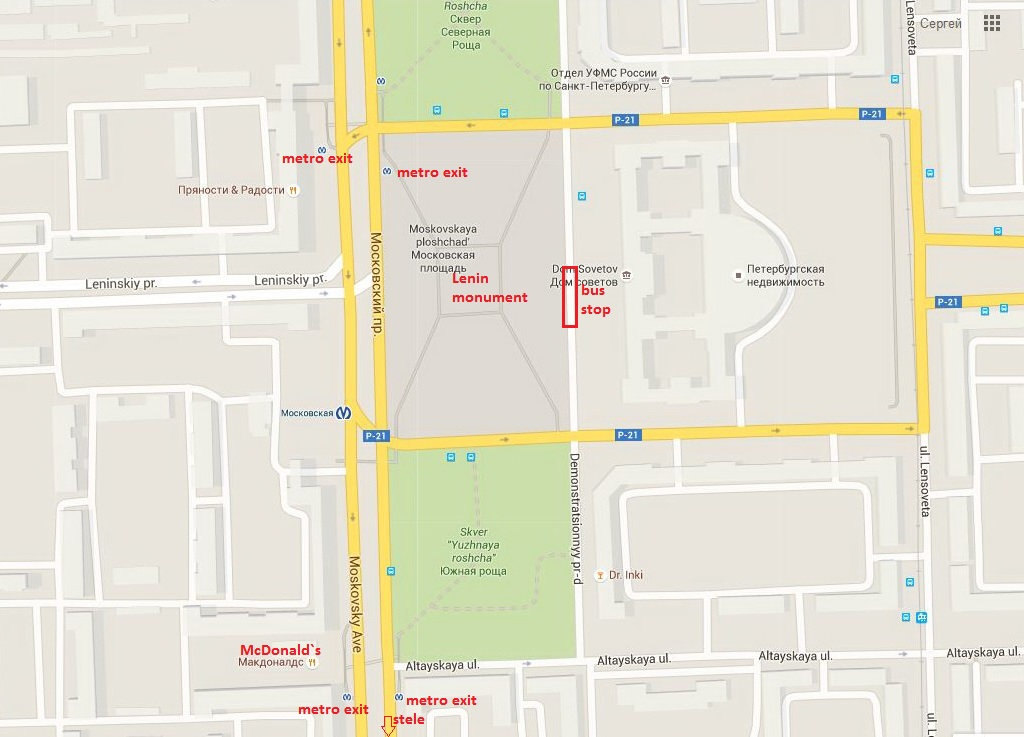 map to find bus stop