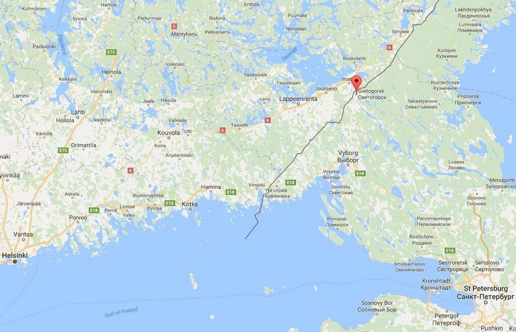 Svetogorsk town on map