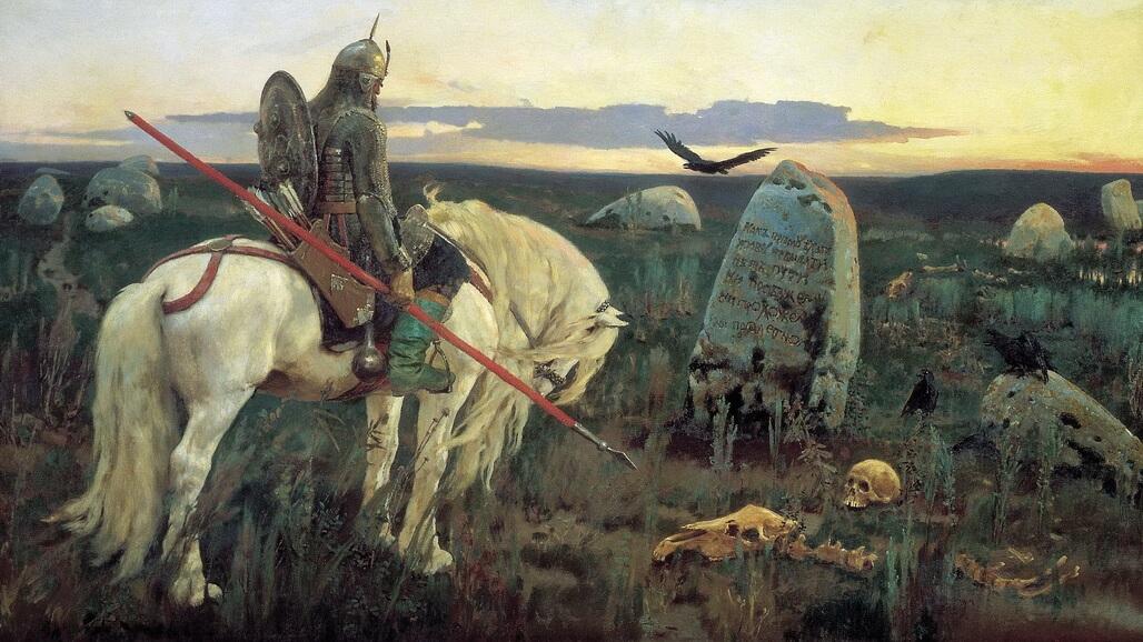 The Knight at The Crossroads - Viktor Vasnetsov