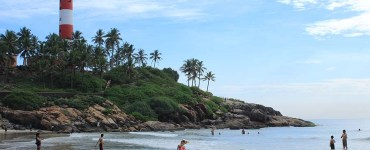 Lighthouse Beach in Kovalam, Kerala