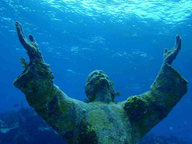 Christ of the Abyss at San Fruttuoso - Most Beautiful Abandoned Places In The World