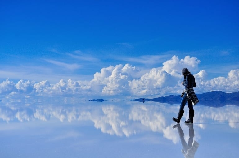 Reflective salt flats in Bolivia - 15 Craziest Things In Nature