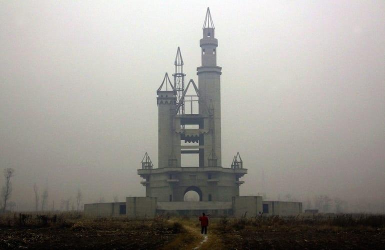 The abandoned Wonderland Amusement Park outside Beijing