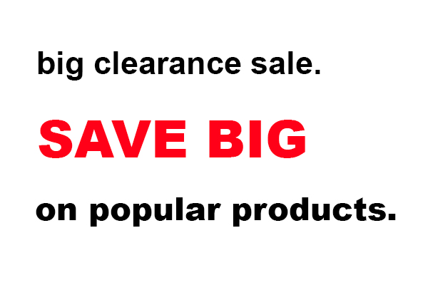 big clearance sale