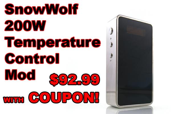 snowwolf 200w mod coupon deal