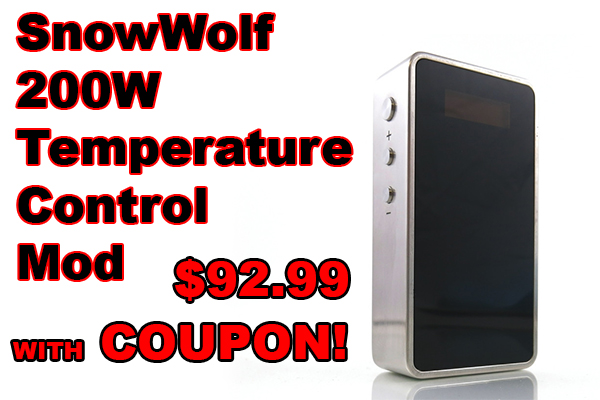 snowwolf 200w mod coupon deal