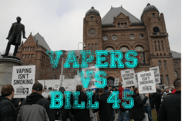 Bill 45 brings vapers out in force