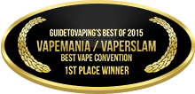 1st Place - Best Vape Convention - VapeMania-VaperSlam