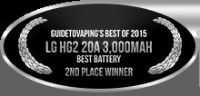 2nd Place - Best Battery - LG HG2 20A 3,000mAh