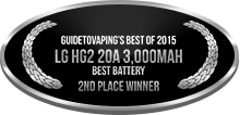 2nd Place - Best Battery - LG HG2 20A 3,000mAh