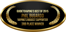 3rd Place - Vaping's Biggest Supporter - Individual - Phil Busardo
