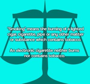 Vaping Is Not Smoking Definition