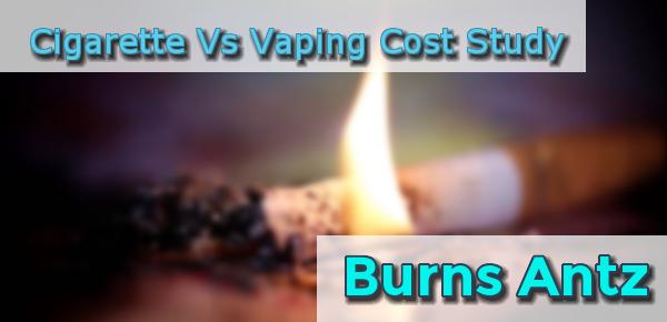 US Study: Smoking Vs Vaping Cost Burns ANTZ header