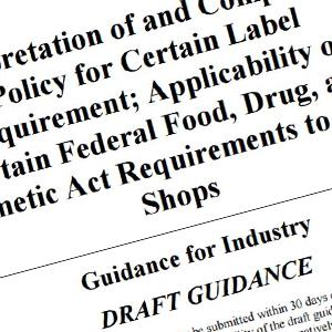 fda draft guidance for vape shops