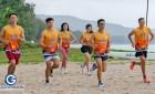 สาธิต การวิ่งบนหาดทราย โดย ครูดิน สถาวร จันทร์ผ่องศรี