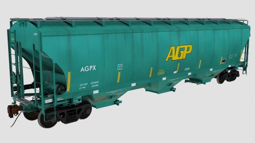 AGPX Trinity 3-Bay Covered Hopper