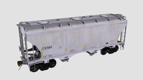 CEMX Trinity 2-Bay Covered Hopper