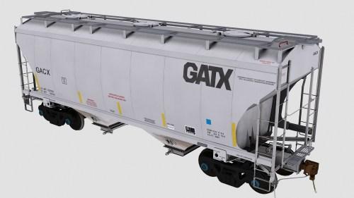 GACX Trinity 2-Bay Covered Hopper
