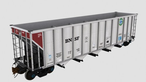 BNSF 651000-651386 JAC Autoflood 3 5-Bay Hopper