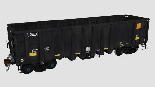 LGEX 2201-2275 National Steel Car 2500cf Aggregate Gondola