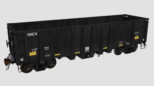 GACX 54970-55052 National Steel Car 2500cf aggregate gondola