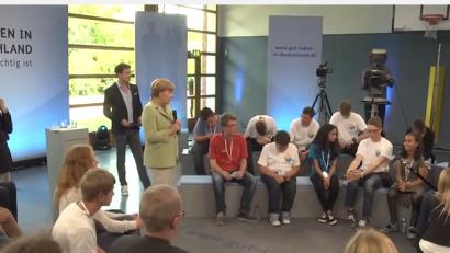 Angela Merkel e la ragazzina palestinese