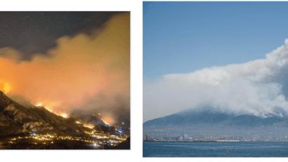 incendi sul Vesuvio e in Val di Susa
