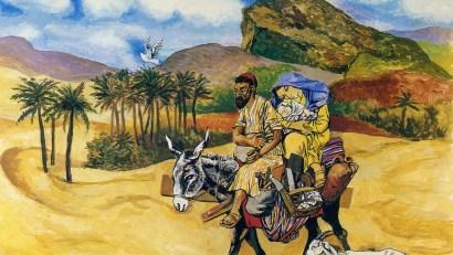 Fuga in Egitto di Renato Guttuso - 1983