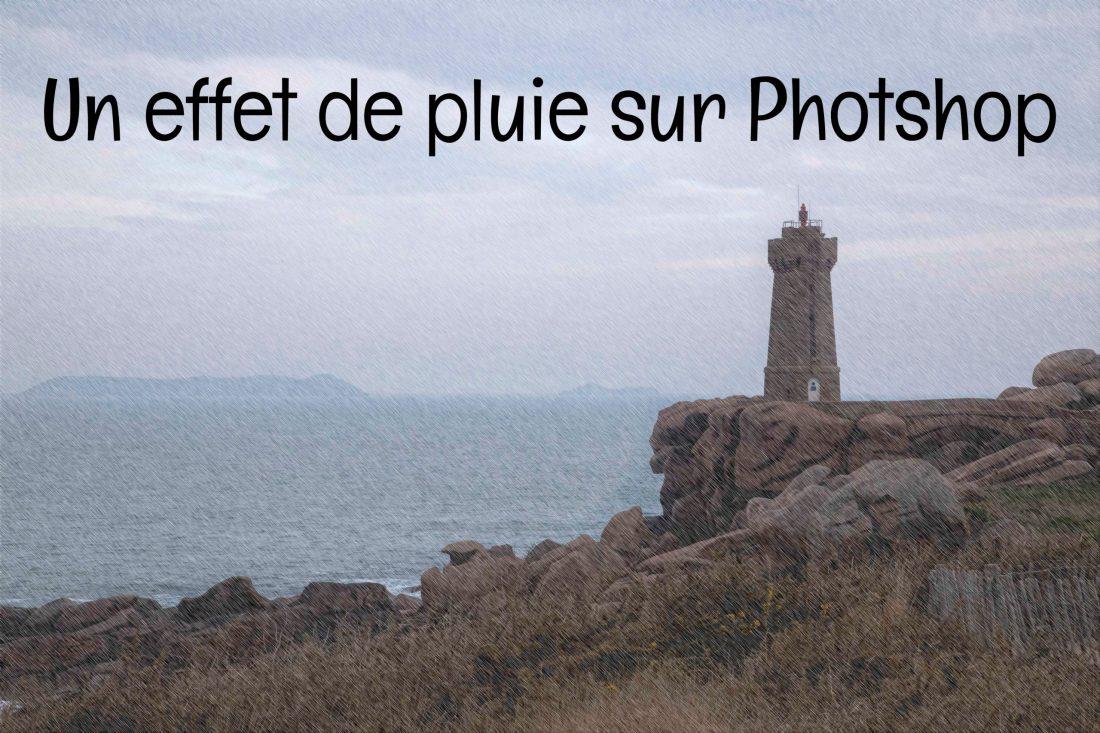 Chemin des douaniers, Bretagne Effet de pluie sur Photoshop