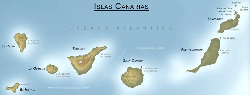 Foto aerea de Canarias