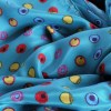 Anna Newton - Silk Scarf Dot Riot on Teal sq1