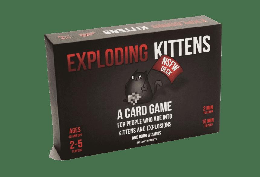 Exploding Kittens NSFW board game