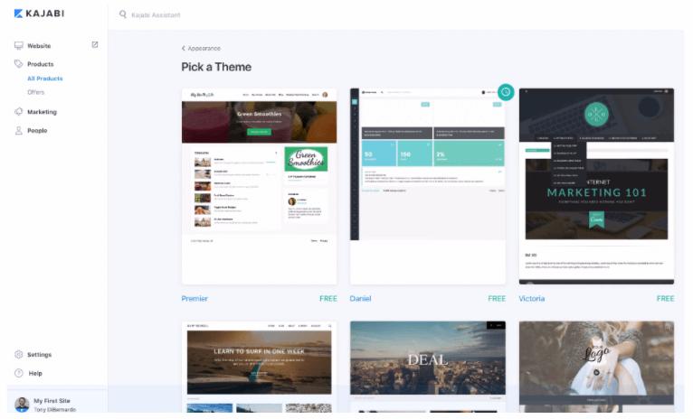 Kajabi website themes
