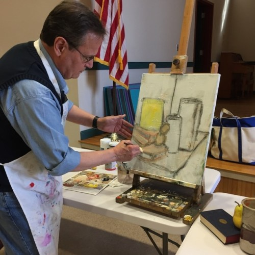 Contemporary Artist Michael Giaquinto Demonstrates