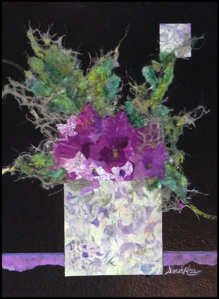 ©Doris Mee, Still Life in Purple & Green