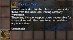 Black Lion Chest