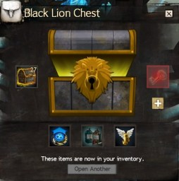 Black Lion Chest Opened