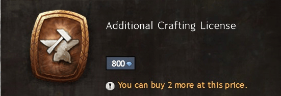 Crafting License