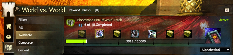 Bloodstone Reward Track