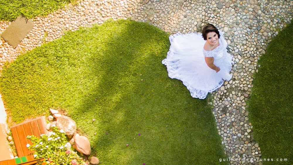 fotografia de casamento imagem de drone