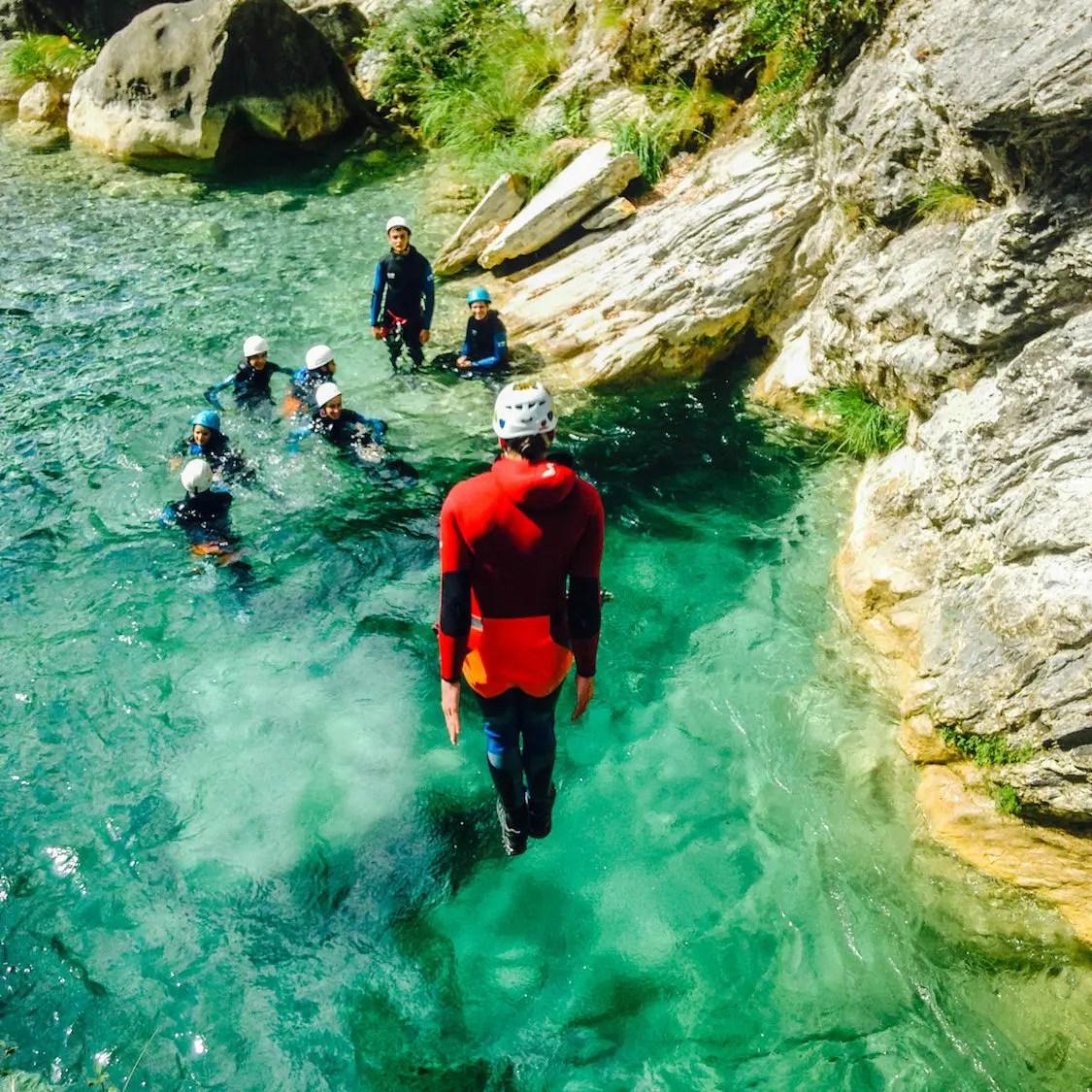 canyon bollene saut