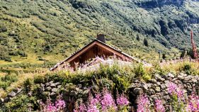 The small house in the mountain