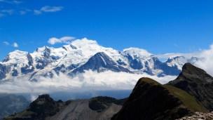 le Mont-Blanc vu du désert blanc