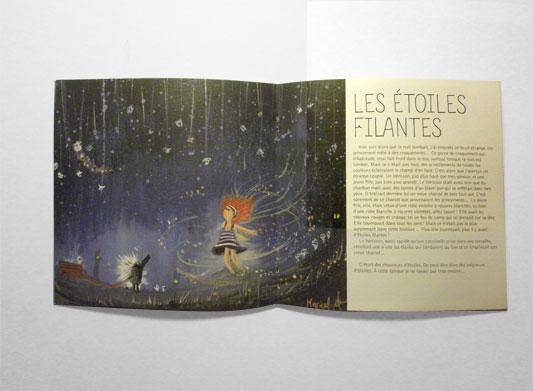 Projections céletes par Guillaume Marical, Les étoiles filantes