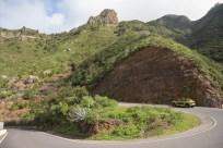 Carretera de los montes de Anaga.